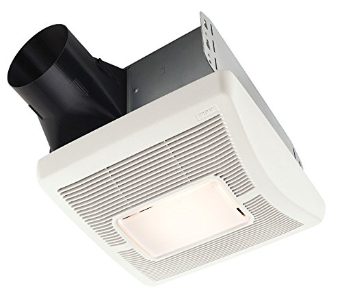 Broan AE80L Invent Energy Star Qualified Single-Speed Ventilation Fan with LED Light, 80 CFM 0.8 Sones (Nutone Shower Fan Light compare prices)