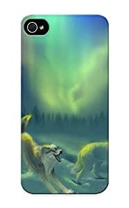 Flyinghouse Perfect Tpu Case For Iphone 5/5s/ Anti-scratch Protector Case (aurora Borealiswolf )