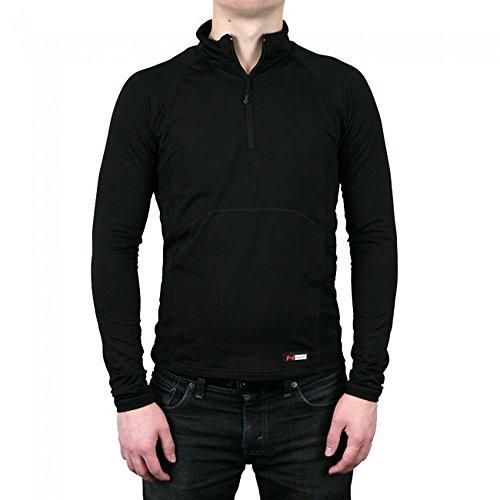 Mobile Warming Heated Longmen Baselayer Shirt, Black, Medium
