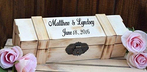 Personalized Wine Box - Laser Engraved Wine Box - Wedding Wine Box - Wine Box Gift - Ceremony Wine Box