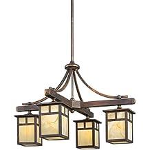 Kichler 49091CV Four Light Indoor/Outdoor Chandelier