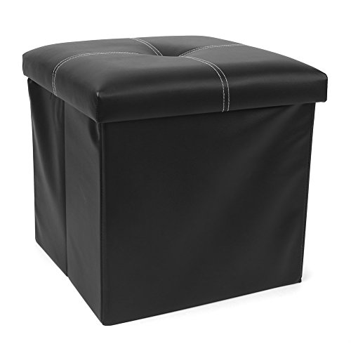 Homfa Faux Leather Folding Storage Ottoman Benc...