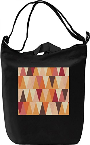 Colorful Triangles Pattern Borsa Giornaliera Canvas Canvas Day Bag| 100% Premium Cotton Canvas| DTG Printing|