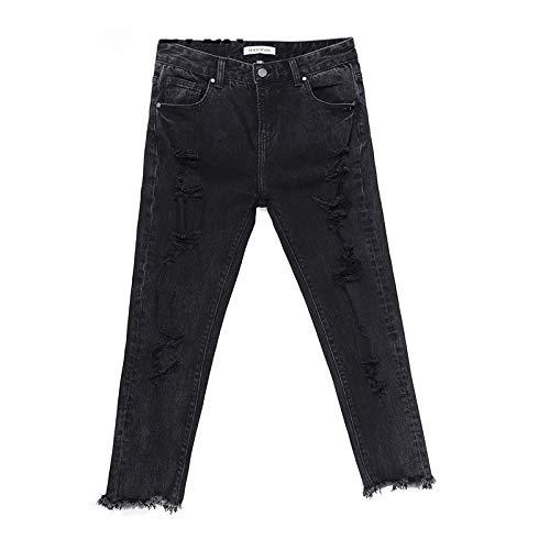 Mvguihzpo Donna S Nero Jeans E Tane L Americane Alla Piccoli Centesimi Capelli Moda Nove Europee Jeans 6pq6rxwB