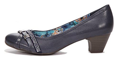 Zapatos Tozzi Mujer Azul De Para Vestir Cuero Marco d5qaxSga
