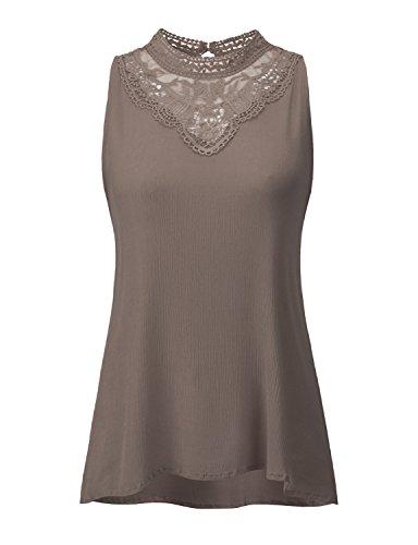 Elegance Sleeveless - Regna X BOHO for woman's feminine comfy elegance purple violet 3xl plus maternity tall laced chiffon blouse sleeveless halterneck tops