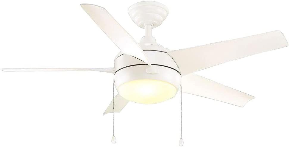 Home Decorators Collection 51566 Windward 44 in. LED Indoor Matte White Ceiling Fan