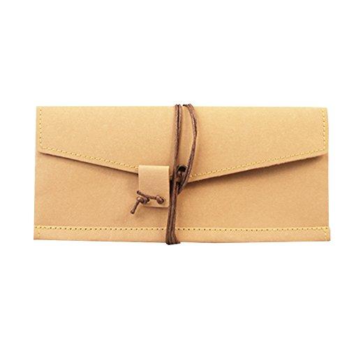boshiho-new-material-kraft-paper-wallet-washable-vintage-single-purse-khaki
