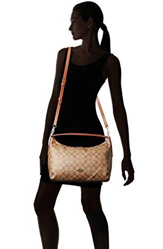 5918e3e4ba ... 2016 Super Popular Coach 12CM Signature Celeste Convertible  HoboShoulder Bag 36377 Coach EastWest Celeste Womens Hobo Handbag Bag  F34899 Brown ...