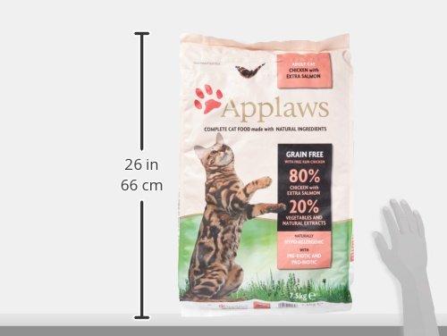 Applaws Comida seca para gatos, pollo y salmón extra/adulto, 7.5 kg: Amazon.es: Productos para mascotas