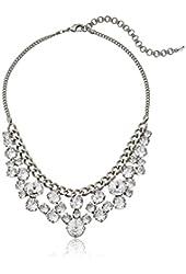 Sorrelli Round Crystal Cluster Bib Antique Gold-Tone Necklace, 15''+4'' Extender