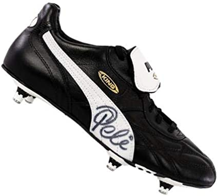 Ingresos Caracterizar Matemático  Pele Signed Retro Black Puma King Boot – Icons COA - Autographed Soccer  Cleats at Amazon's Sports Collectibles Store