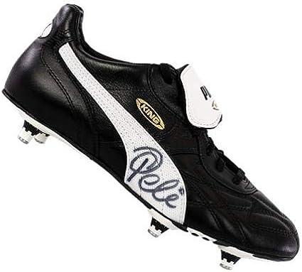 Pele Signed Retro Black Puma King Boot