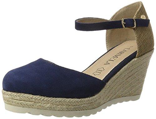 XTI Navy Suede Ladies Shoes . - Plataforma Mujer azul (navy)
