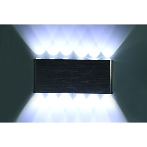 White Finish Outdoor Sconce - Bjour 12 Leds 9.5