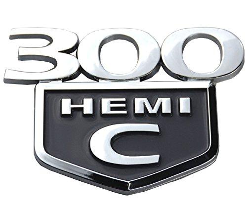 (Aimoll 1PC 300C HEMI Emblem Badge Trunk Decklid Replacement for Chrysler 300 C HEMI 2005 2006 2007 2008 2009 2010-2015 (Chrome Black))