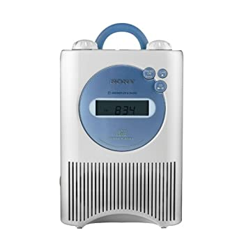 Image of Sony ICF-CD73W AM/FM/Weather Shower CD Clock Radio - White (Discontinued by Manufacturer) Clock Radios