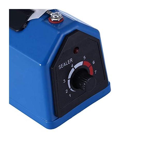 OSFT 8 inch Package Sealing Machine Plastic Vacuum Tool Heat Hand Sealer (8 Inch, Blue) 3
