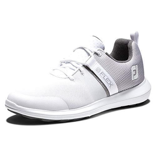 Calzado de golf FootJoy FJ Flex para hombre, blanco, 9