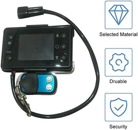 12 V 24 V 3//5 KW LCD-Monitor Standheizung Schalter Auto Heizung Ger/ät Controller Universal f/ür Auto Track Lufterhitzer-Schwarz Mit Fernbedienung