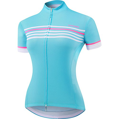 NOOYME (Cycling Season Deal) Women's Cycling Jersey Short Sleeve Biking Shirt Breathable Bike Jersey (Medium, Pink)