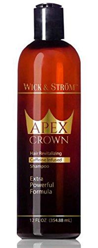 Premium Anti Hair Loss Shampoo -Wick & Ström- NO Minoxidil (Caffeine, Biotin, Saw Palmetto, Aloe Leaf, Ketoconazole +.)Formulated to Stimulate Hair Growth for Men & Women /BIGGER 12oz Wick & Ström