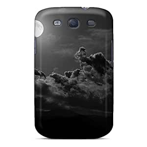 Hard Plastic Galaxy S3 Cases Back Covers,hot Moon Clouds Cases At Perfect Customized