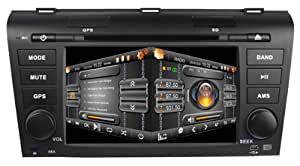 Castar 7 Inch Touchscreen Double-DIN DVD Player For MAZDA 3 (2004-2009) With In dash Navigation systems and Bluetooth, Radio with RDS,AUX&USB,iPhone iPod Controls,steering wheel control,backup camera input