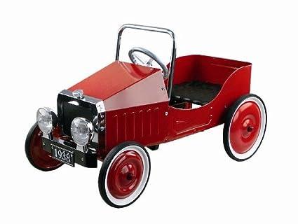 Gollnest & Kiesel 14062 - Coche rojo con pedales (metal), diseño retro de