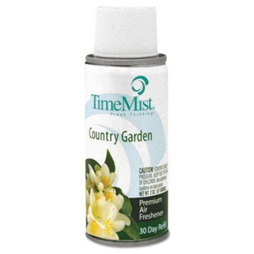 TimeMist Micro Ultra Concentrated Metered Fragrance Refills, Country Garden, 2 oz - Includes 12 per case.