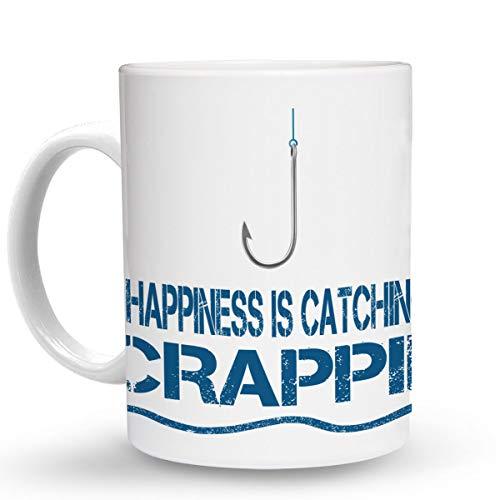 - Makoroni - HAPPINESS IS CATCHING CRAPPIE Fish Fishing - 11 Oz. Unique COFFEE MUG, Coffee Cup