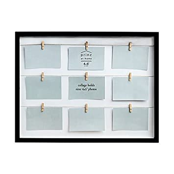 Amazon.com - Collage Picture Frame With Clothespin fasteners Black ...