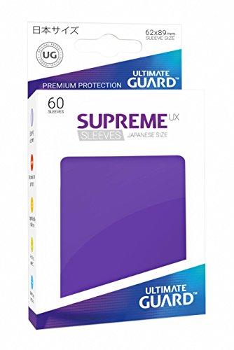 (Ultimate Guard Supreme Japanese UX Card Sleeves (60 Piece), Purple)