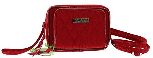 Vera Bradley On The Square Wristlet Clutch Crossbody Shoulder Bag in Tango Red
