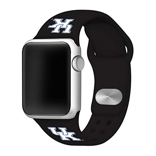 Affinity Bands Kentucky Wildcats Silicone Sport Band Compatible with Apple Watches - Band Only (Black, 42mm/44mm)