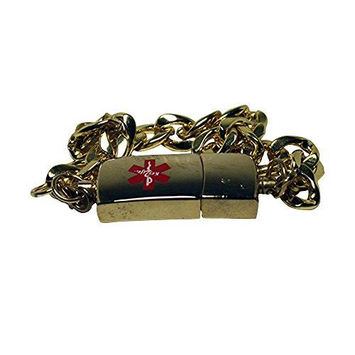 Throwback Legacy EMR MediChip ID Bracelet by Key2Life (Gold - Locator Alloy Store