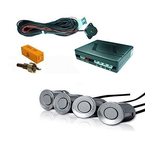 Kit di 4 sensori posteriori per il parcheggio, di colore argento. Per auto Fiat Parking Sensor Systems