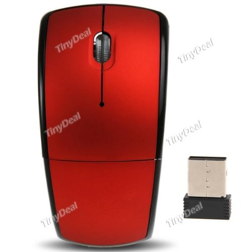 00673886e58 Arch Bridge Shaped 2.4GHz Wireless Folding Optical Mouse w/ Mini USB  Receiver for PC Laptop - Red CMS-49124: Amazon.in: Electronics