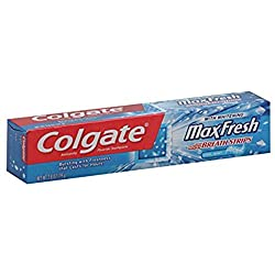 Colgate MaxFresh Whitening Toothpaste With Mini Breath Strips Clean Mint, 2.8 oz (Pack of 3)