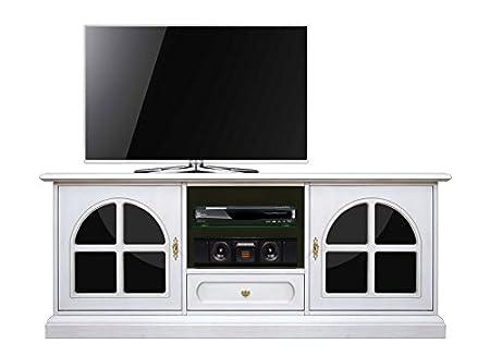 Mobile Porta Tv Plasma.Mobile Porta Tv Led Plasma Da Salotto In Legno Laccato Bianco Con