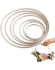 Craft Embroidery Hoop, JUSTDOLIFE 20 Pack DIY Craft Hoop Ring Bamboo DIY Craft Ring Wreath Ring Floral Hoop Wreath Hoop for Home DIY