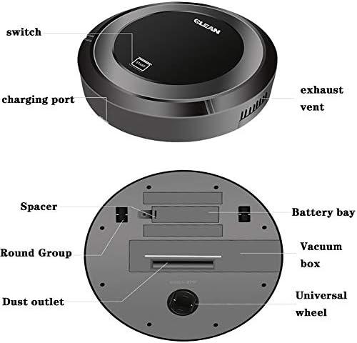 Ztong Robot D\'inhalation, Robot De Nettoyage Intelligent, Mode De Charge À Un Bouton USB avec Batterie Respectueuse De l\'environnement, Adapté À Toutes Sortes De Sols,Blanc
