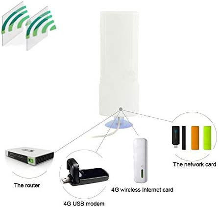 Chaomin Indoor 25dBi SMA Male 4G Antenna Size: 20.7cm x 7cm x 3cm Cable Length: 2m White