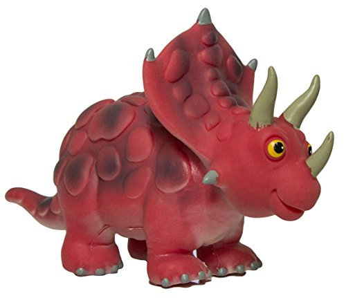 Large Triceratops 9 Inch Soft Rubber Cartoon Dinosaur Toys (Large Soft Rubber)