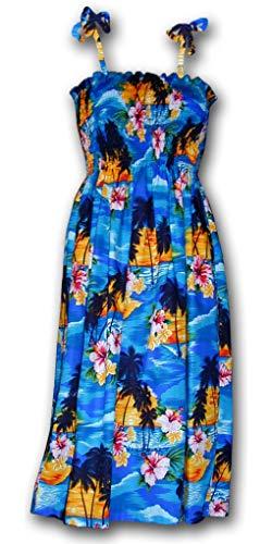 Hawaiian Tube Sun Dress - Blue Sunset -