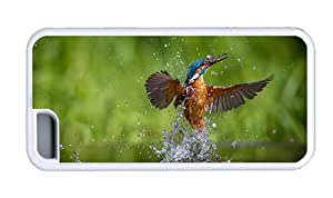 Hipster iPhone 5C most protective case kingfisher bird 1 TPU White for Apple iPhone 5C