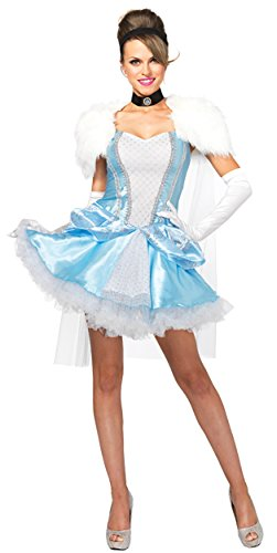 Cinderella Outfit For Adults (UHC Cinderella Slipperless Velvet Outfit Adult Fancy Dress Womens Costume, S (4-6))