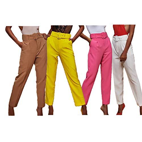 Décontracté Fuxinhe Taille Avec Droite 4 Forme Femmes Blanc Pour De Haute Couleurs Pantalon Ceinture Large xl S xp7Iq8pwr