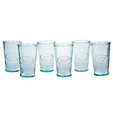 Amici Milk Glasses, 11 oz - Set of 6
