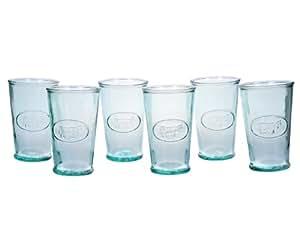 Amici Milk Glasses, 11 oz - Set of 6